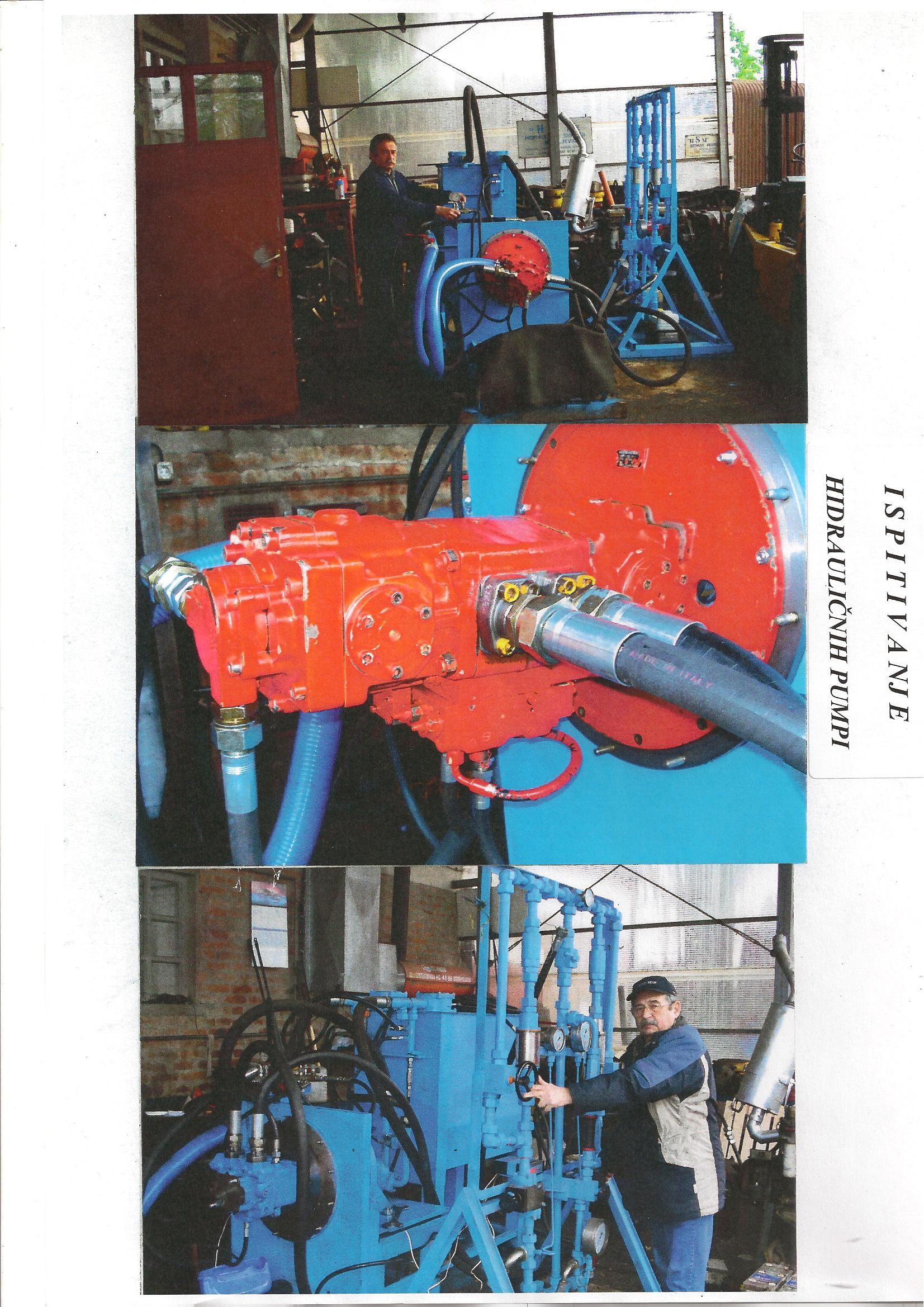 Ispitivanje hidrauličnih pumpi